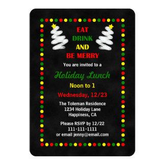 Navidad almuerzo de la pizarra o invitación del