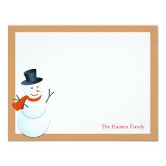Navidad amistosa del marrón del Polo Norte del Invitación 10,8 X 13,9 Cm