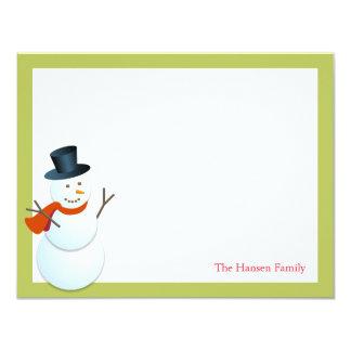Navidad amistosa del verde del Polo Norte del Invitación 10,8 X 13,9 Cm
