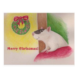 Navidad andrajoso postal