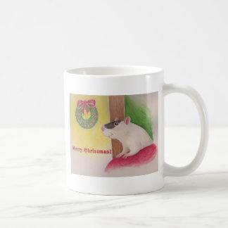 Navidad andrajoso taza de café