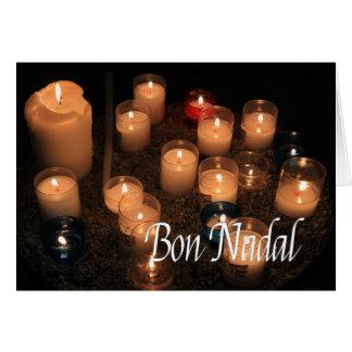 Navidad ardiente de las velas de Nadal del Bon Tarjeta De Felicitación