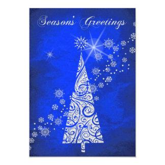 Navidad azul elegante de la plantilla