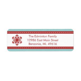 Etiqueta Navidad azules modernos de la etiqueta de