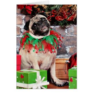 Navidad - barro amasado - lirio Lou Tarjeta Pequeña