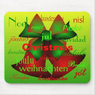 Navidad Belces de alrededor del mundo Tapetes De Ratones