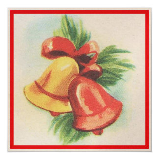 navidad Belces de los años 40 Invitación 13,3 Cm X 13,3cm