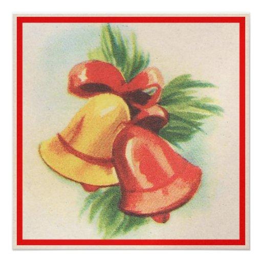 navidad Belces de los años 40 Invitaciones Personalizada