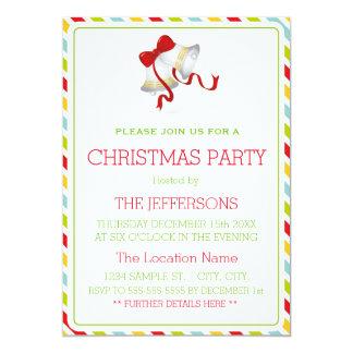 Navidad Belces y fiesta de Navidad colorida de las Invitación 12,7 X 17,8 Cm