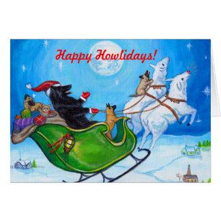 Navidad belga Notecard del perro pastor de Tarjeta