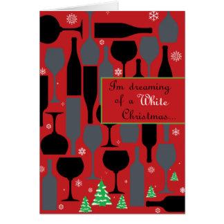 Navidad blanco tarjeta de felicitación