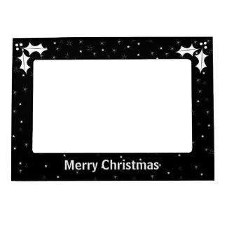 Navidad blanco y negro marcos magneticos para fotos
