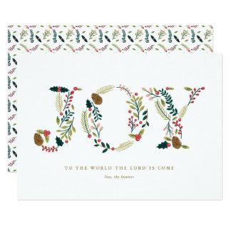 Navidad botánico de la alegría que saluda invitación 12,7 x 17,8 cm