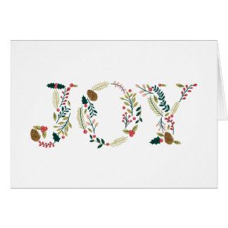 Navidad botánico de la alegría que saluda tarjeta de felicitación