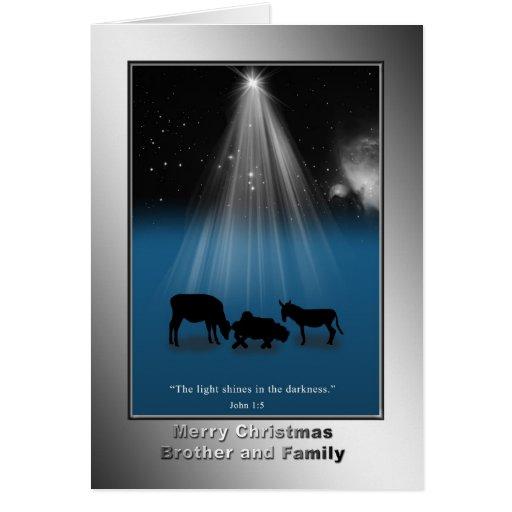 Navidad, Brother y familia, religiosos, natividad Tarjeton