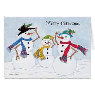 Navidad caliente y acogedor tarjeta de felicitación