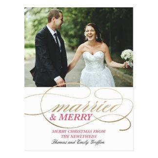 Navidad casados y Felices del | Postal