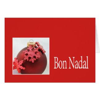 navidad catalan nadal del bon felicitacion