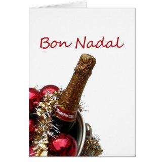 navidad catalan nadal del bon tarjeta