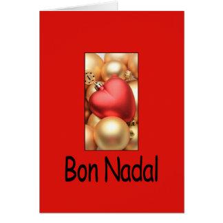 navidad catalan nadal del bon tarjetón