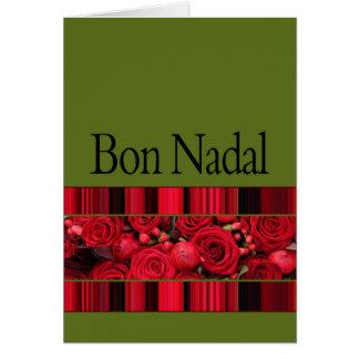navidad catalan nadal del bon tarjeta de felicitación