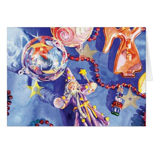 Navidad celestial tarjeta de felicitación
