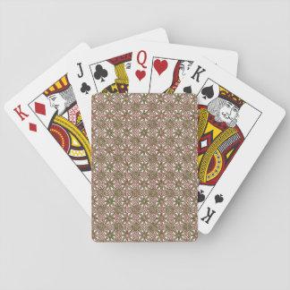 Navidad céltico clásico del nudo rojo y modelo baraja de cartas
