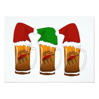 Navidad Cerveza de los amigos de Tres Invitación 13,9 X 19,0 Cm