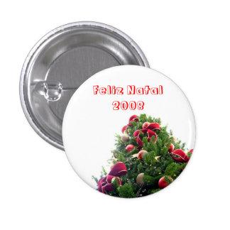 Navidad Chapa Redonda 2,5 Cm