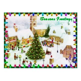 Navidad clásico que saluda las postales