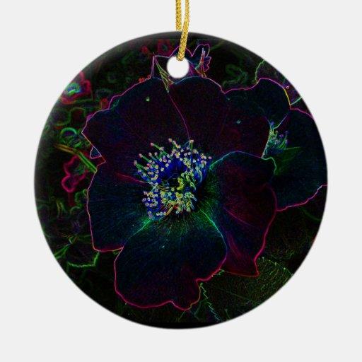 Navidad color de rosa eléctrico ornaments para arbol de navidad