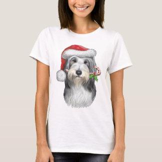 Navidad con jazz el collie barbudo camiseta