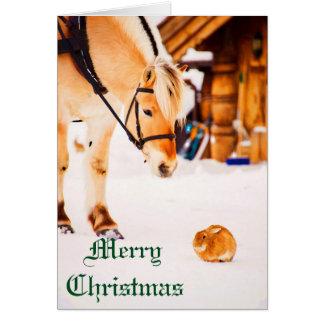 Navidad con los animales del campo al aire libre tarjeta de felicitación
