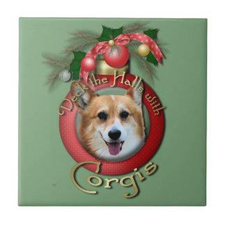 Navidad - cubierta los pasillos - Corgis - Owen Tejas Ceramicas