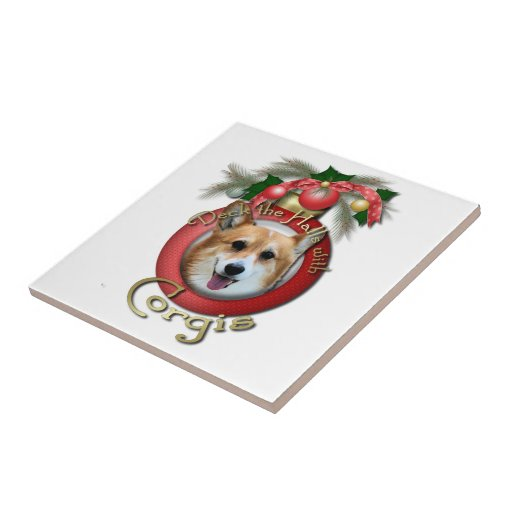 Navidad - cubierta los pasillos - Corgis - Owen Azulejo Ceramica