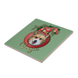 Navidad - cubierta los pasillos - Corgis - Owen Teja Ceramica