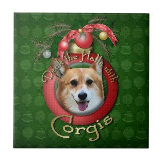 Navidad - cubierta los pasillos - Corgis - Owen Tejas Cerámicas