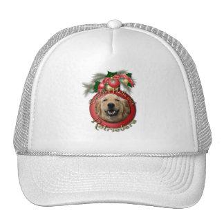 Navidad - cubierta los pasillos - perros perdiguer gorro