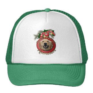 Navidad - cubierta los pasillos - perros perdiguer gorras de camionero