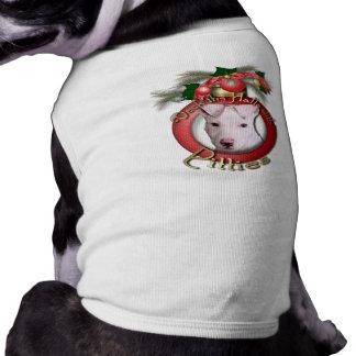 Navidad - cubierta los pasillos - Pitties - Petey Camisetas De Perrito
