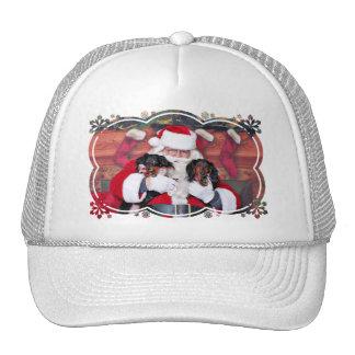Navidad - Dachshund - Mickey y Madilyn Gorros Bordados