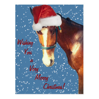 Navidad de caballo postal