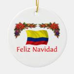 Navidad de Colombia Adorno Navideño Redondo De Cerámica