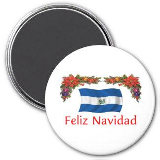 Navidad de El Salvador Imán Redondo 7 Cm