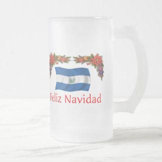 Navidad de El Salvador Taza Cristal Mate