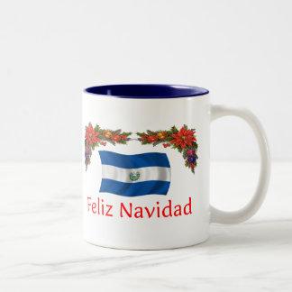 Navidad de El Salvador Taza De Dos Tonos