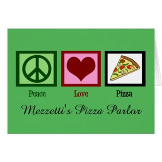Navidad de encargo de la sala de pizza tarjeta de felicitación