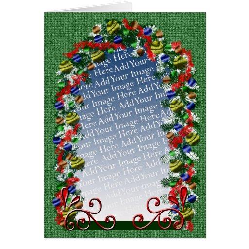 Navidad de encargo que saluda tarjeta de felicitación