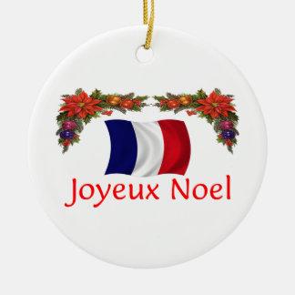 Navidad de Francia Adorno Redondo De Cerámica