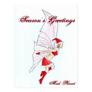 Navidad de hadas postal